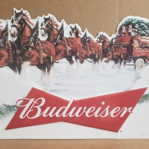 Budweiser Beer Holiday Tin Sign