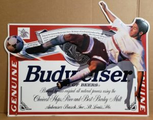 Budweiser Beer Soccer Tin Sign budweiser beer soccer tin sign Budweiser Beer Soccer Tin Sign budweisersoccer1996tin 300x236