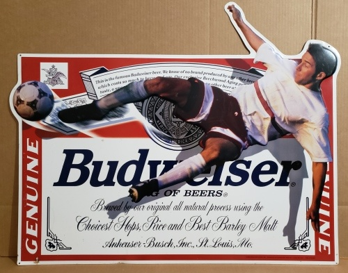 Budweiser Beer Soccer Tin Sign