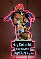 My Beer Sign Collection – Not for sale but can be bought… captainmorgancolumbia e1615068196195