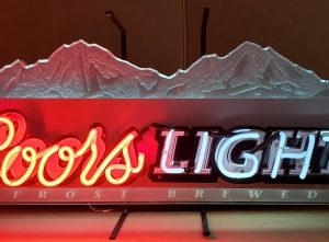 Coors Light Beer Neon Sign [object object] Home coorslightfrostbrewed2002 300x221