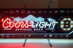 Coors Light Beer NHL Boston Bruins Neon Sign [object object] Home coorslighthockeystickbruins2014 300x200