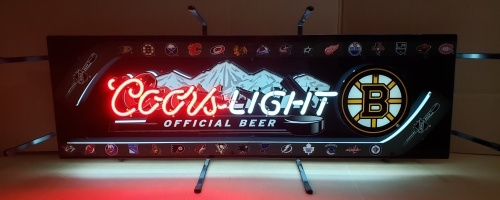 Coors Light Beer NHL Boston Bruins Neon Sign