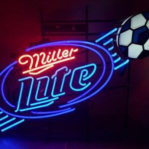 Lite Beer Soccer Neon Sign