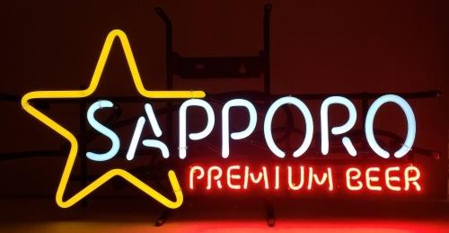 Sapporo Premium Beer Neon Sign