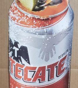 Tecate Beer Can Tin Sign