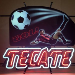 Tecate Beer Soccer Neon Sign [object object] Home tecategol2007 300x300