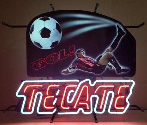 Tecate Beer Soccer Neon Sign
