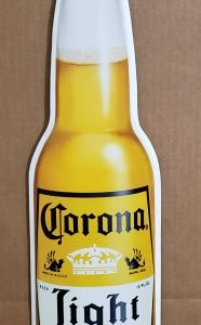 Corona Light Beer Tin Sign [object object] Home coronalightbottletin 186x300