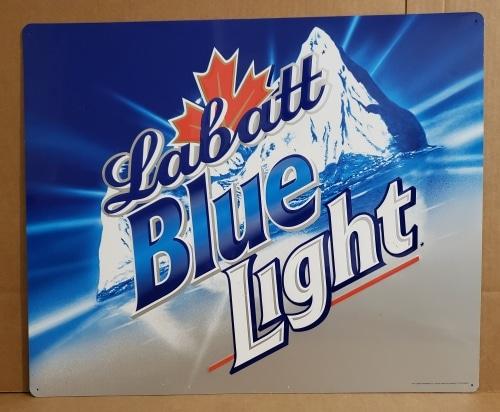 Labatt Blue Light Beer Tin Sign