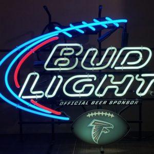 Bud Light Beer NFL Atlanta Falcons Neon Sign