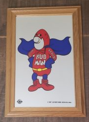 Budweiser Beer Bud Man Mirror  My Beer Sign Collection – Not for sale but can be bought… budweiserbudmanmirror e1620068782185