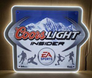 Coors Light Beer Insider LED Sign coors light beer insider led sign Coors Light Beer Insider LED Sign coorslightinsiderled 300x254