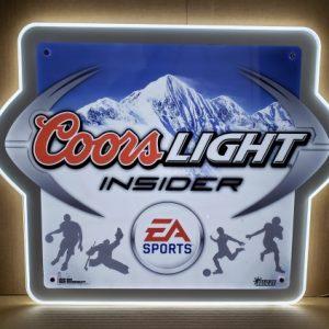Coors Light Beer Insider LED Sign