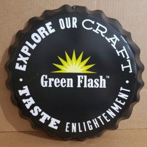 Green Flash Beer Tin Cap Sign [object object] Home greenflashcaptin 300x300