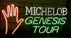 Michelob Beer Genesis Tour Neon Sign beer sign collection My Beer Sign Collection 2 – Not for sale but can be bought… michelobgenesistour e1627210384310
