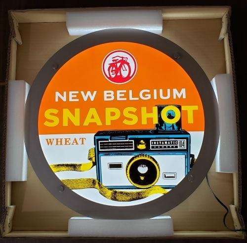 New Belgium Snapshot Beer LED Sign