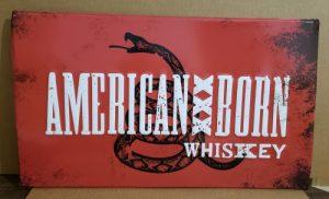 American Born Whiskey Tin Sign american born whiskey tin sign American Born Whiskey Tin Sign americanbornwhiskeytin 300x182