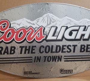 Coors Light Beer Tin Sign