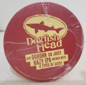 Dogfish Head Beer Coaster dogfish head beer coaster Dogfish Head Beer Coaster dogfishheadhazyocoaster2020rear 300x295
