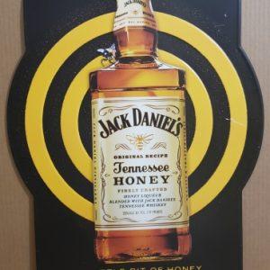 Jack Daniels Tennessee Honey Whiskey Tin Sign