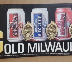 Old Milwaukee Beer Tin Sign