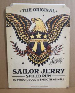 Sailor Jerry Spiced Rum Sign sailor jerry spiced rum sign Sailor Jerry Spiced Rum Sign sailorjerrycardboardsign2015 242x300