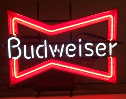 Budweiser Beer Bowtie Neon Sign