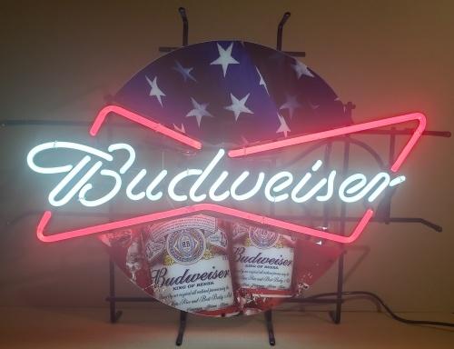 Budweiser Beer Summer Team USA Neon Sign